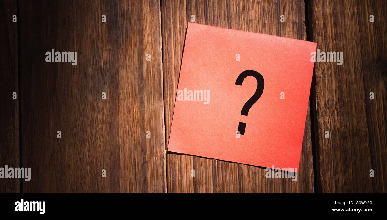 Composite image of question mark - Stock Image