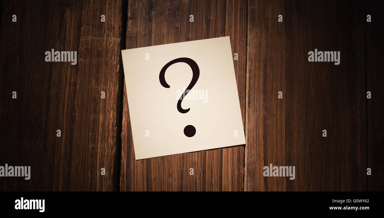 Composite image of question mark Stock Photo