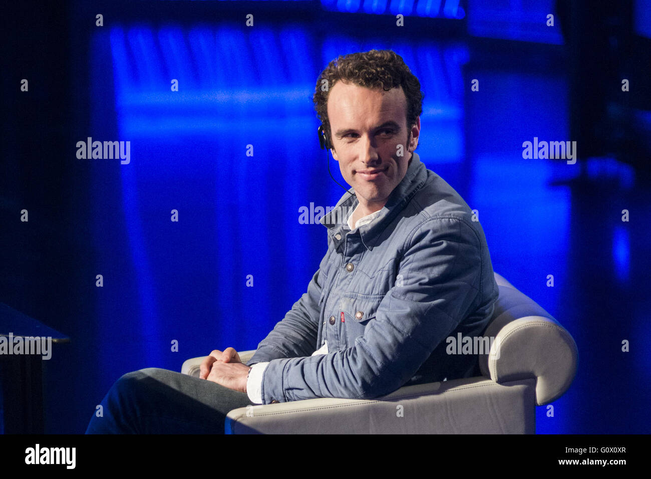 American author Elliot Ackerman appears as a guest on Italian talk show 'Che tempo che fa'  Featuring: Elliot - Stock Image