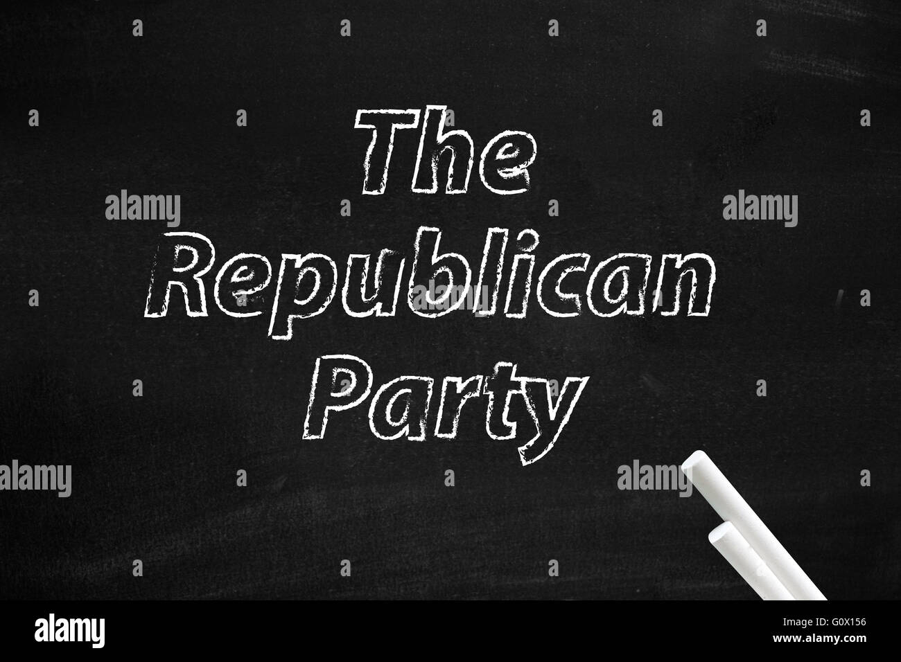 The Republican Party written on board - Stock Image