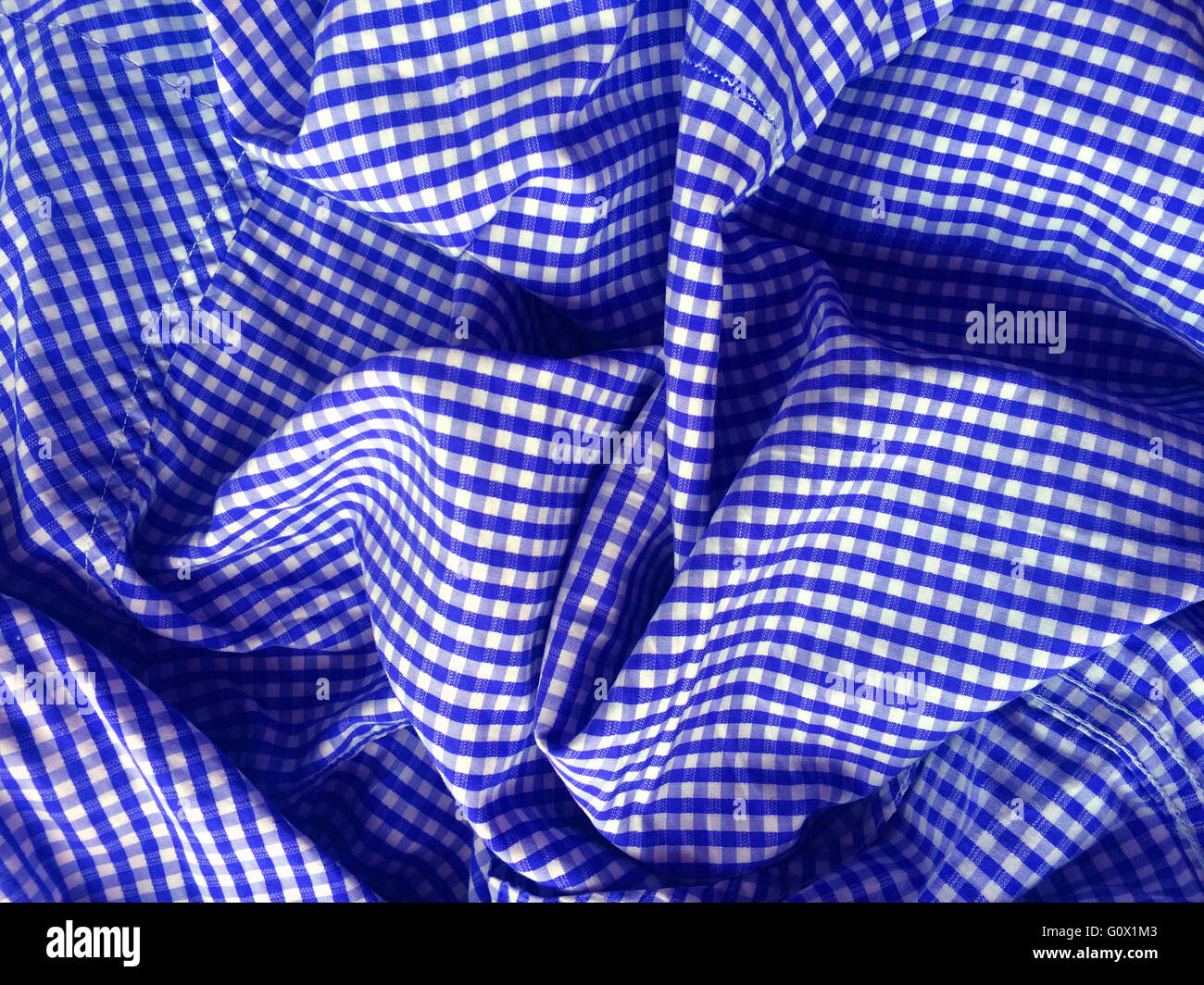 Gingham textile with nobody - Stock Image