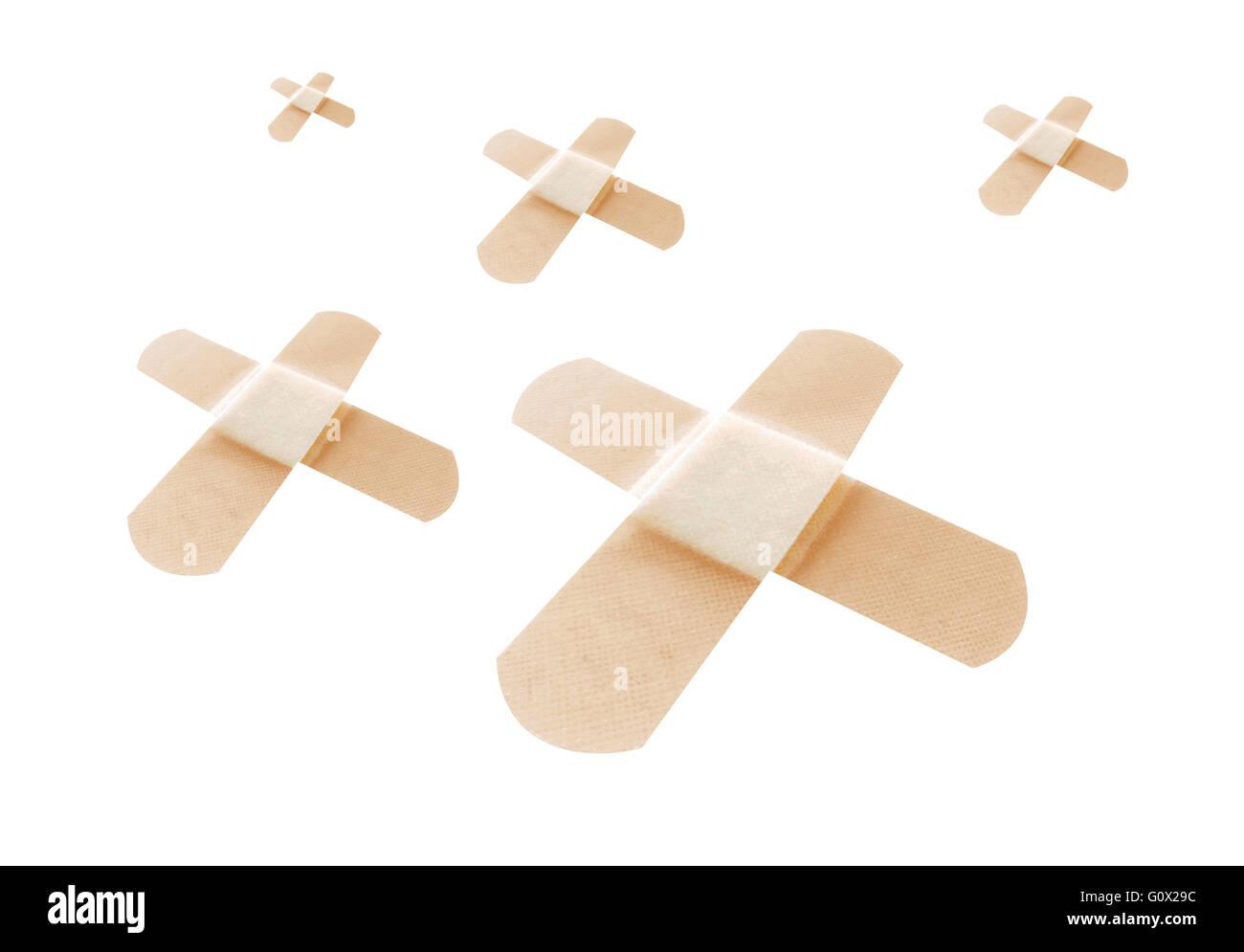 Bandages on white - Stock Image