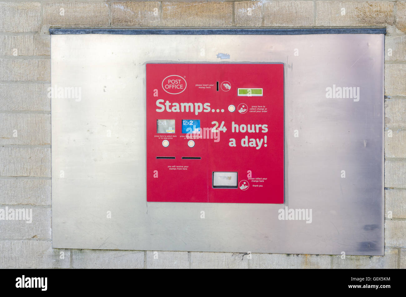 Royal Mail Stamp Vending Machine Built Into The Wall Outside