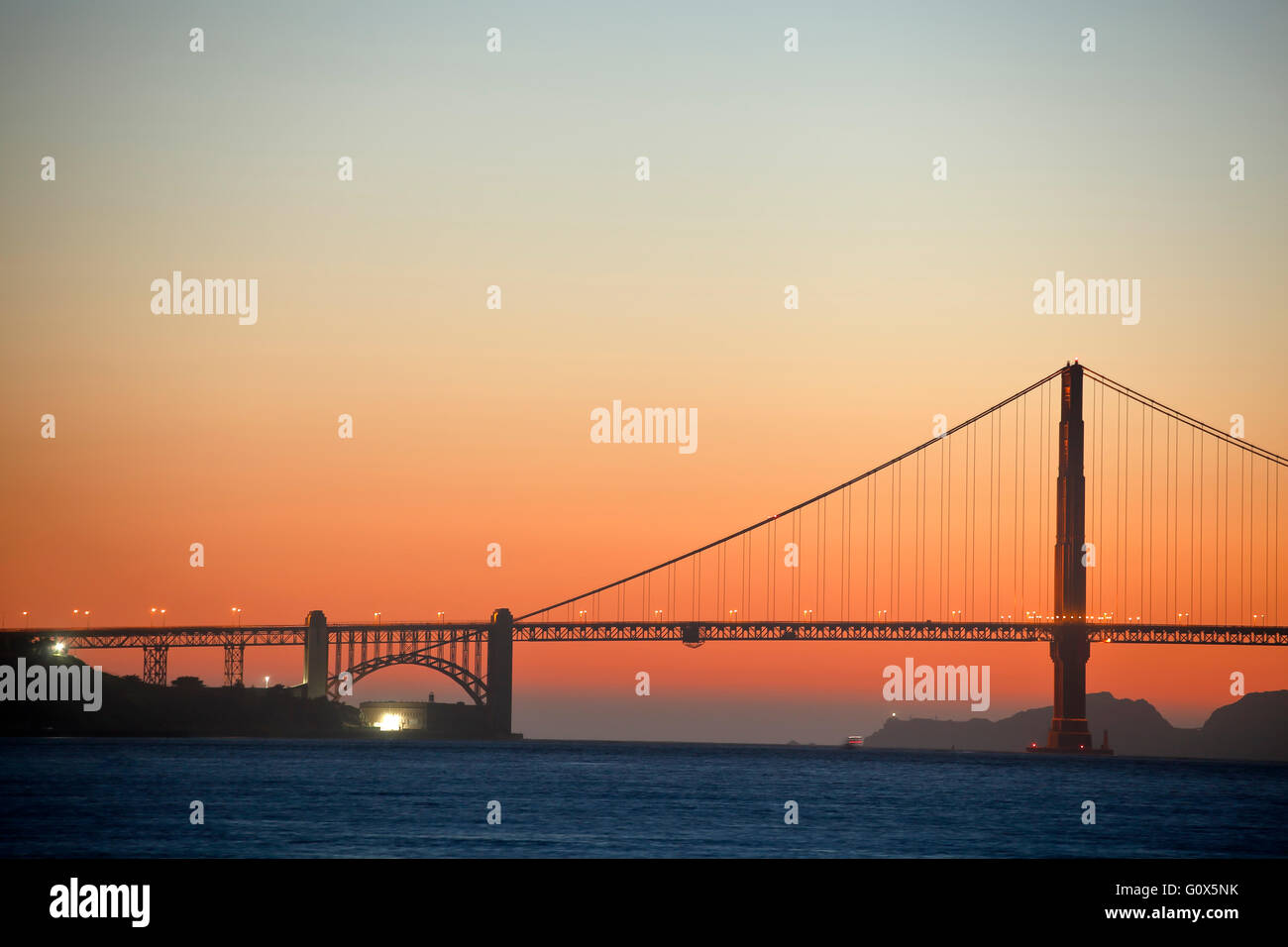 Golden Gate Bridge, San Francisco, California USA - Stock Image