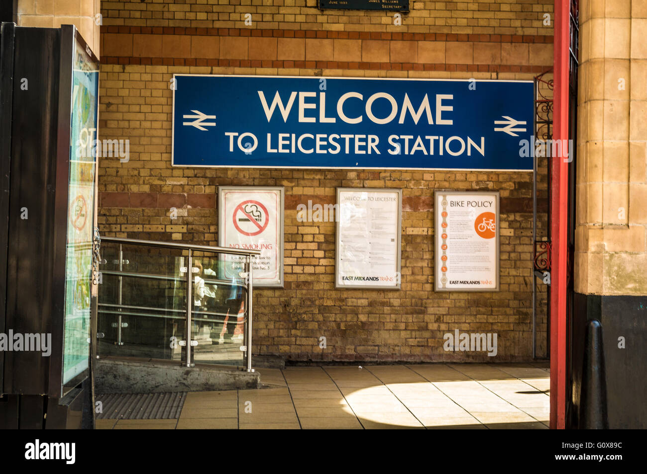 Welcome to Leicester Station - Stock Image