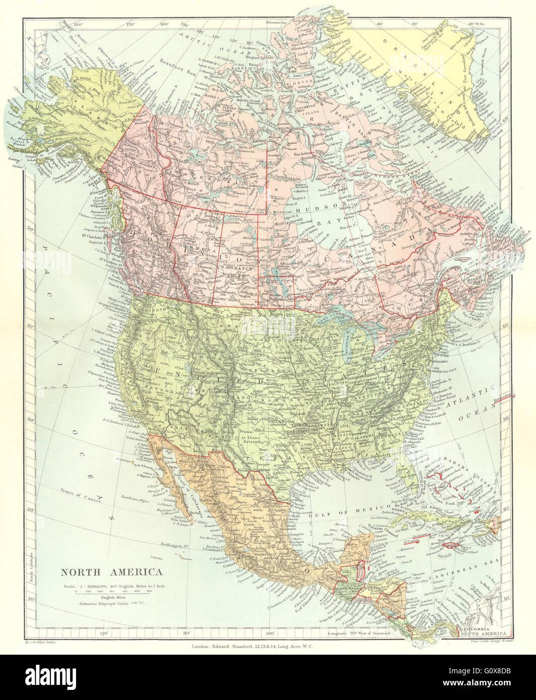NORTH AMERICA: United States Canada Mexico Central America. STANFORD ...