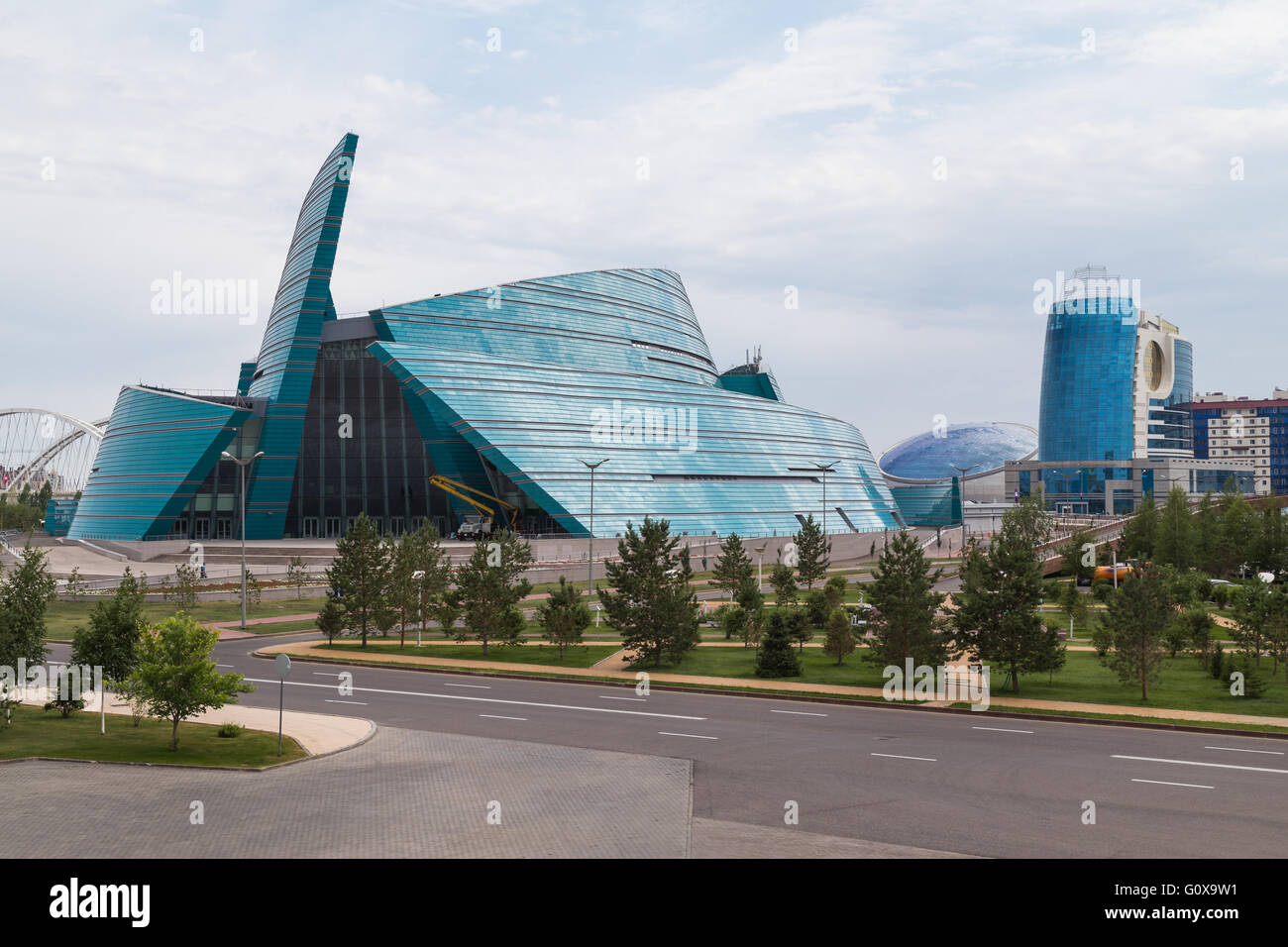 Concert Hall in Astana, Kazakhstan - Stock Image