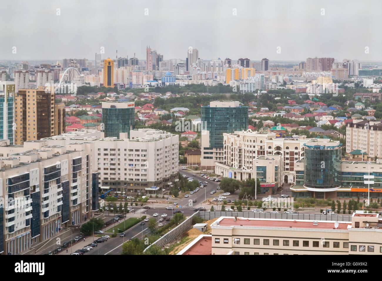 Aerial panorama of Astana, Kazakhstan - Stock Image