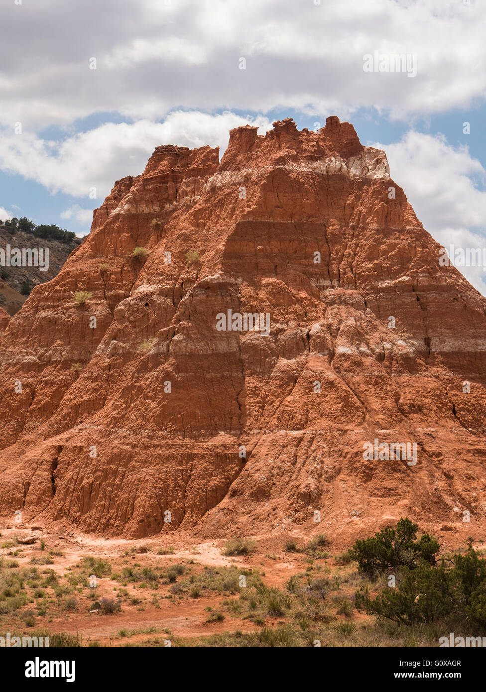 Tecovas and Quartermaster layers (Spanish Skirts),  Lighthouse Trail, Palo Duro Canyon State Park, Canyon, Texas. - Stock Image