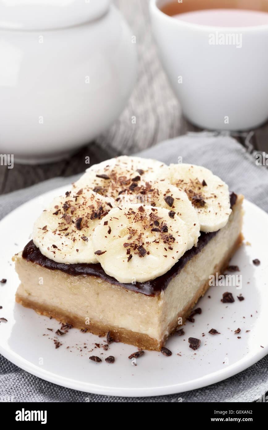 Fruit baking banana cheese cake - Stock Image