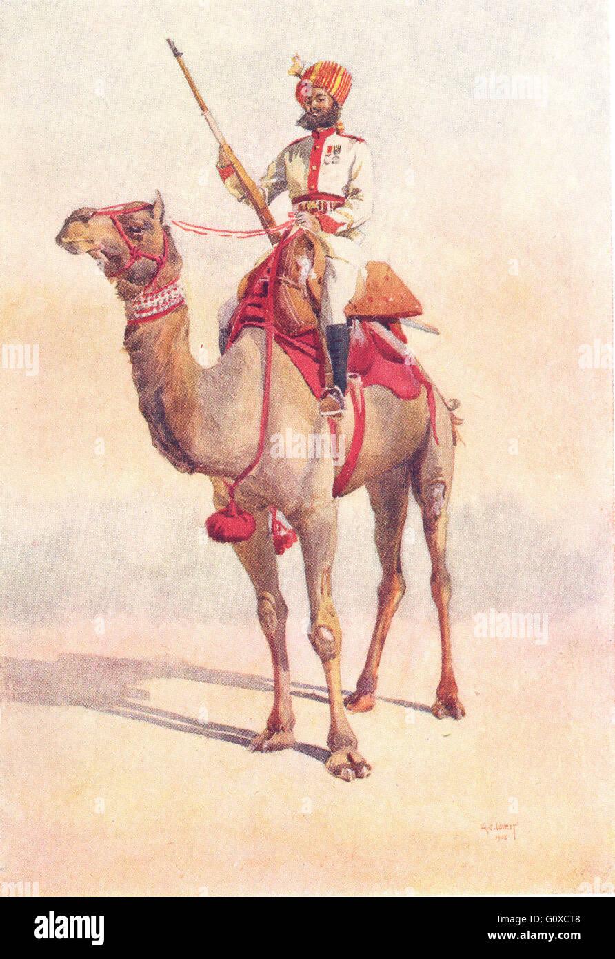 INDIA: Armies of Native States: Bikaner Ganga risala Ratore Rajput, print 1911 - Stock Image