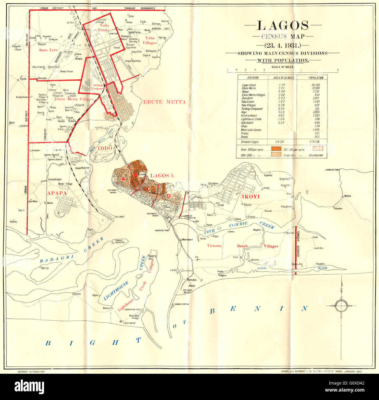 Nigeria map stock photos nigeria map stock images alamy nigeria map of the colony and protectorate of nigeria 1935 1936 stock image ccuart Gallery