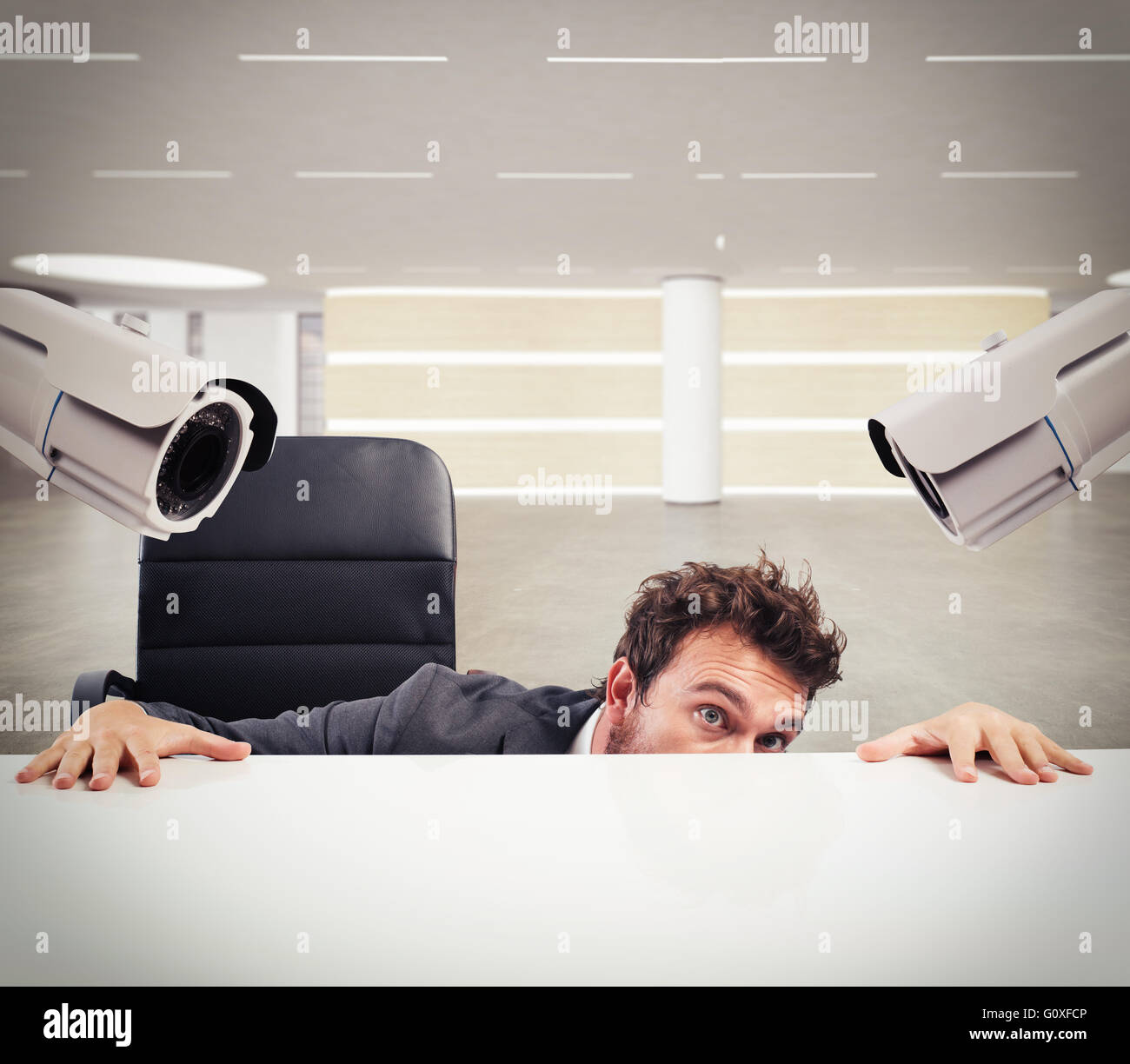 Hiding by the monitoring circuit - Stock Image