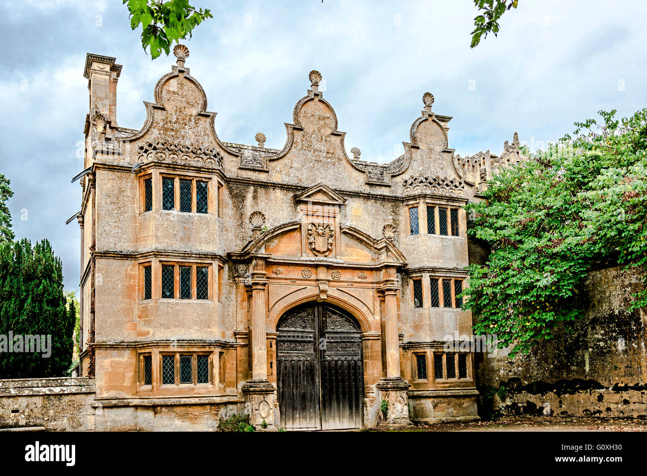 Stanway house, garden and church in Gloucestershire, England, UK Stock Photo