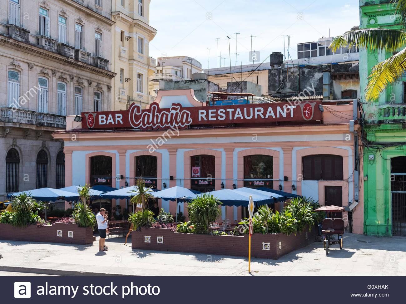 Havana, Cuba, Bar Cabana Restaurant - Stock Image