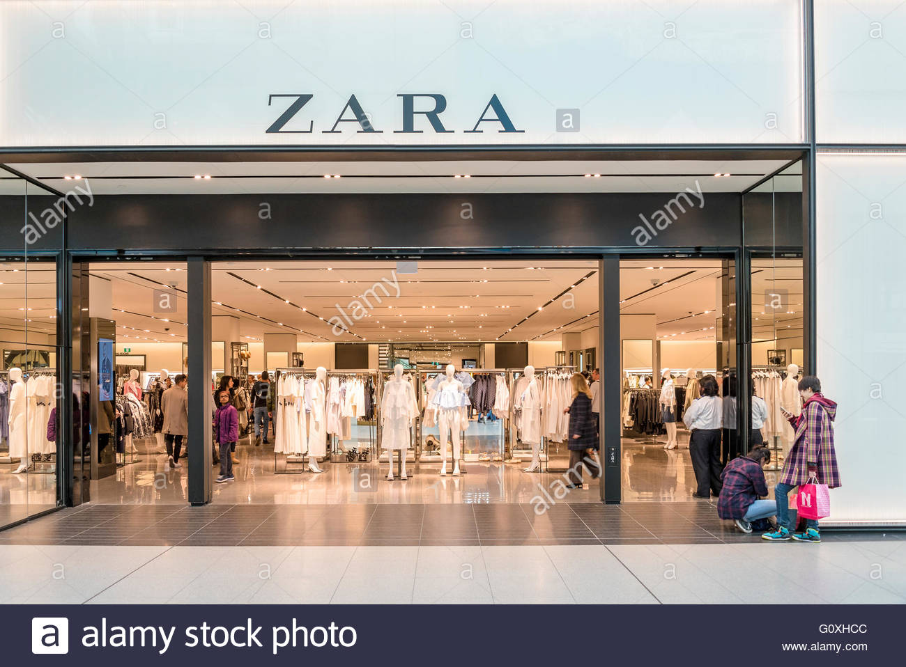 d0544ac8 Zara store entrance in Eaton Center. The company is a Spanish clothing and  accessories retailer