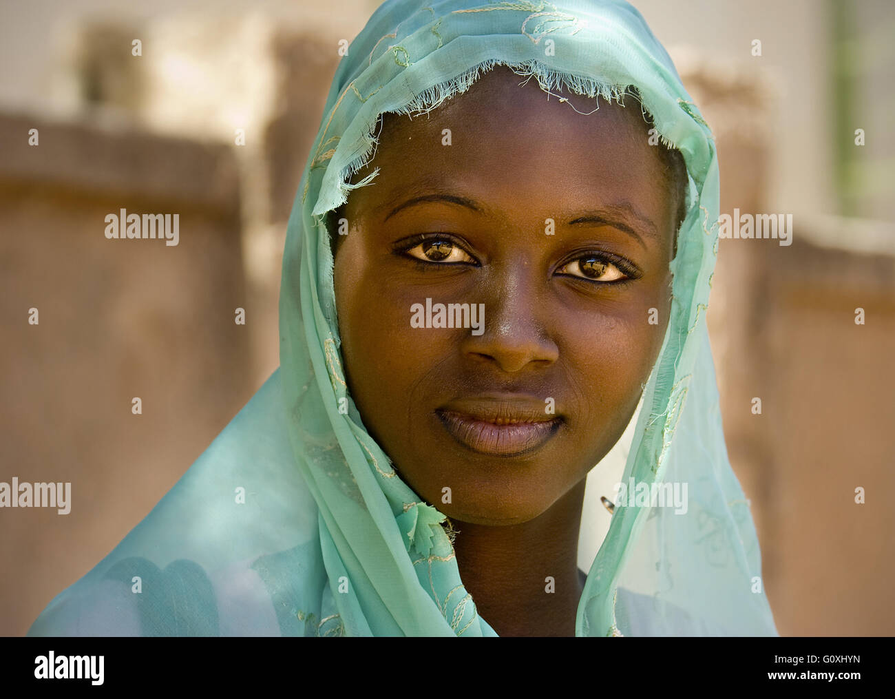 Young woman from Zinder. Niger Stock Photo