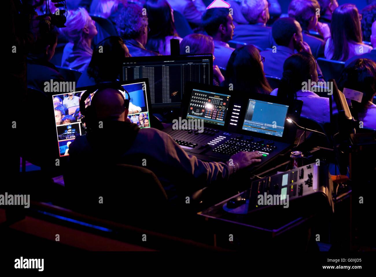 TV show broadcast engineer - USA - Stock Image