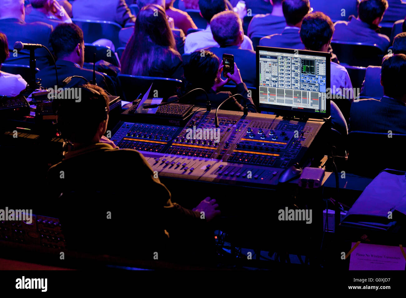 TV show broadcast engineer - USA - Stock Image