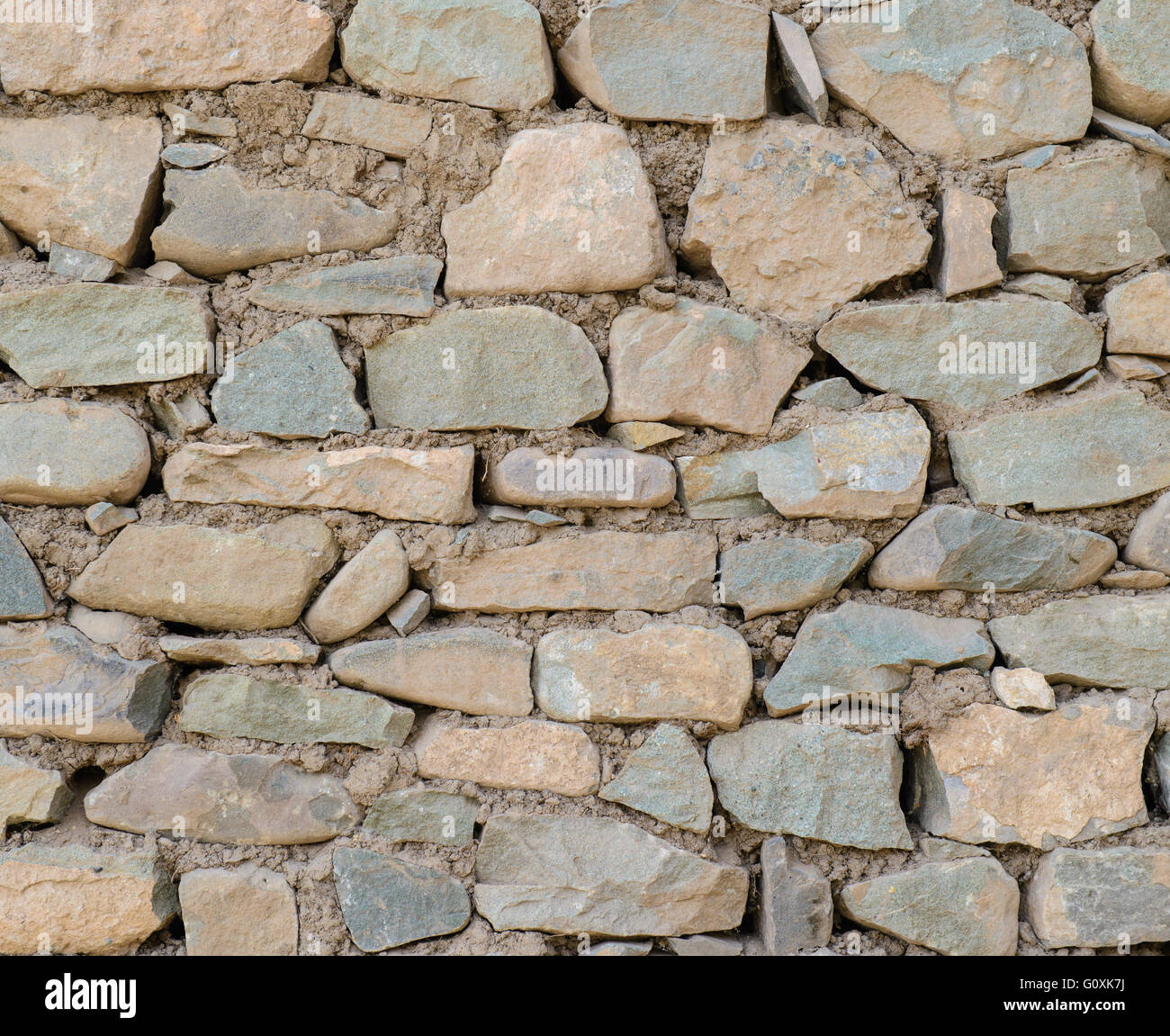 Stone wall full frame texture - Stock Image