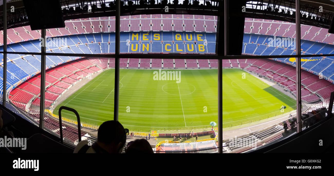 Camp Nou F.C. Barcelona football Stadium Barcelona, Spain - Stock Image