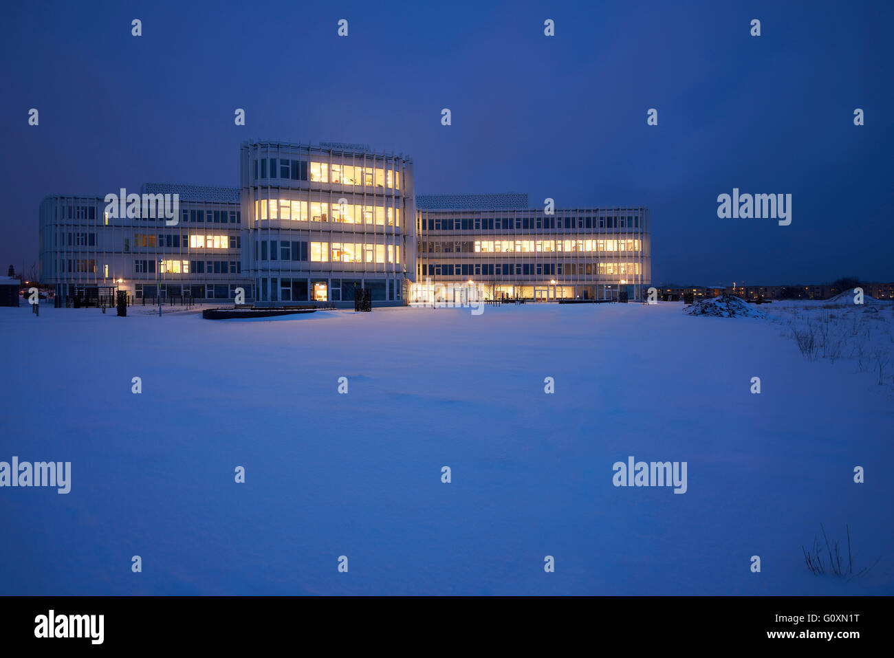 The House of Disabled People's Organisations, Taastrup, Denmark. The accessibility of the design ensures optimal - Stock Image