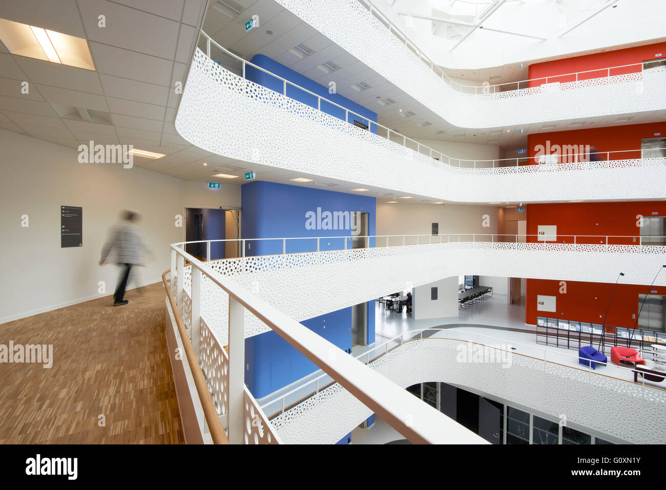 The House of Disabled People's Organisations, Taastrup, Denmark. A headquarters of a charity concerned with - Stock Image