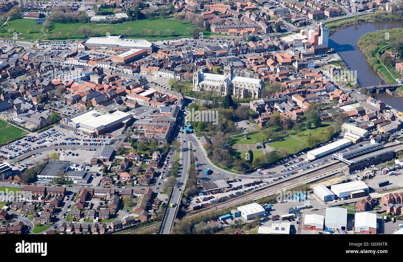 Market town of Selby, North Yorkshire, Northern England, UK - Stock Image