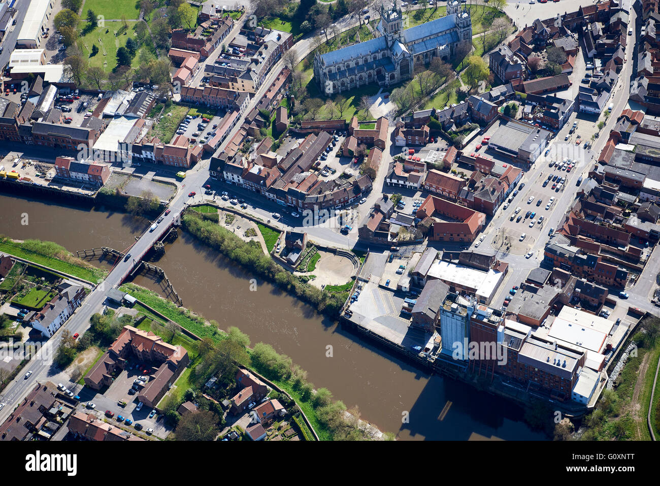Riverside - Market town of Selby, North Yorkshire, Northern England, UK - Stock Image