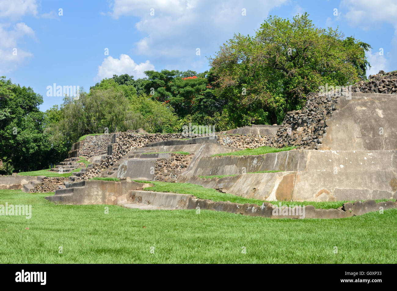 Tazumal archaeological site of Maya civilization in El Salvador - Stock Image