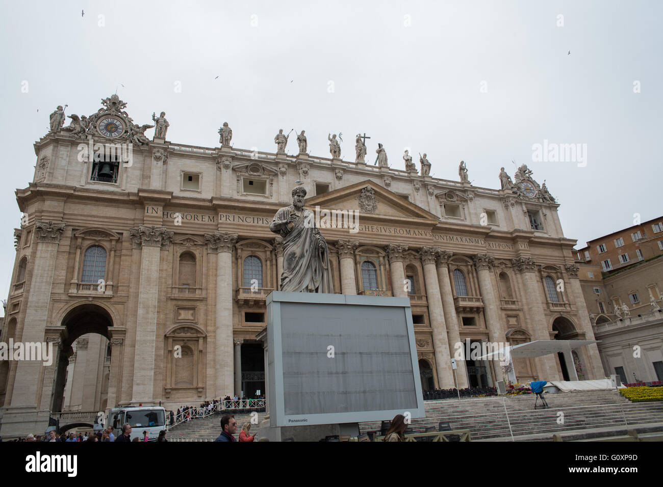 St Peters basilica, Rome, Italy - Stock Image