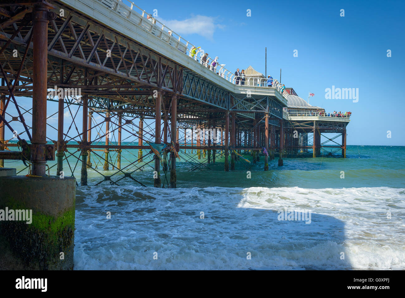 Cromer Pier expands out to sea on the Norfolk Coast, England - Stock Image