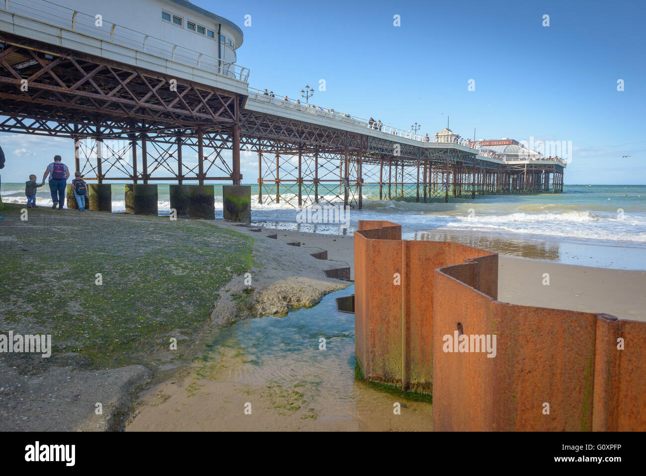 Cromer Pier and beach on the Norfolk Coast, England - Stock Image