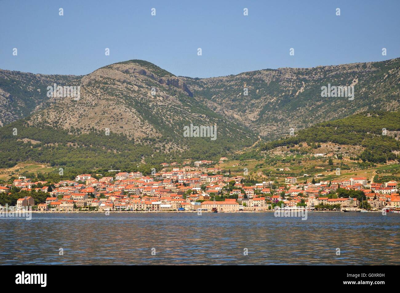 Bol is a town on the south of the island of Brac in the Split-Dalmatia County of Croatia. - Stock Image