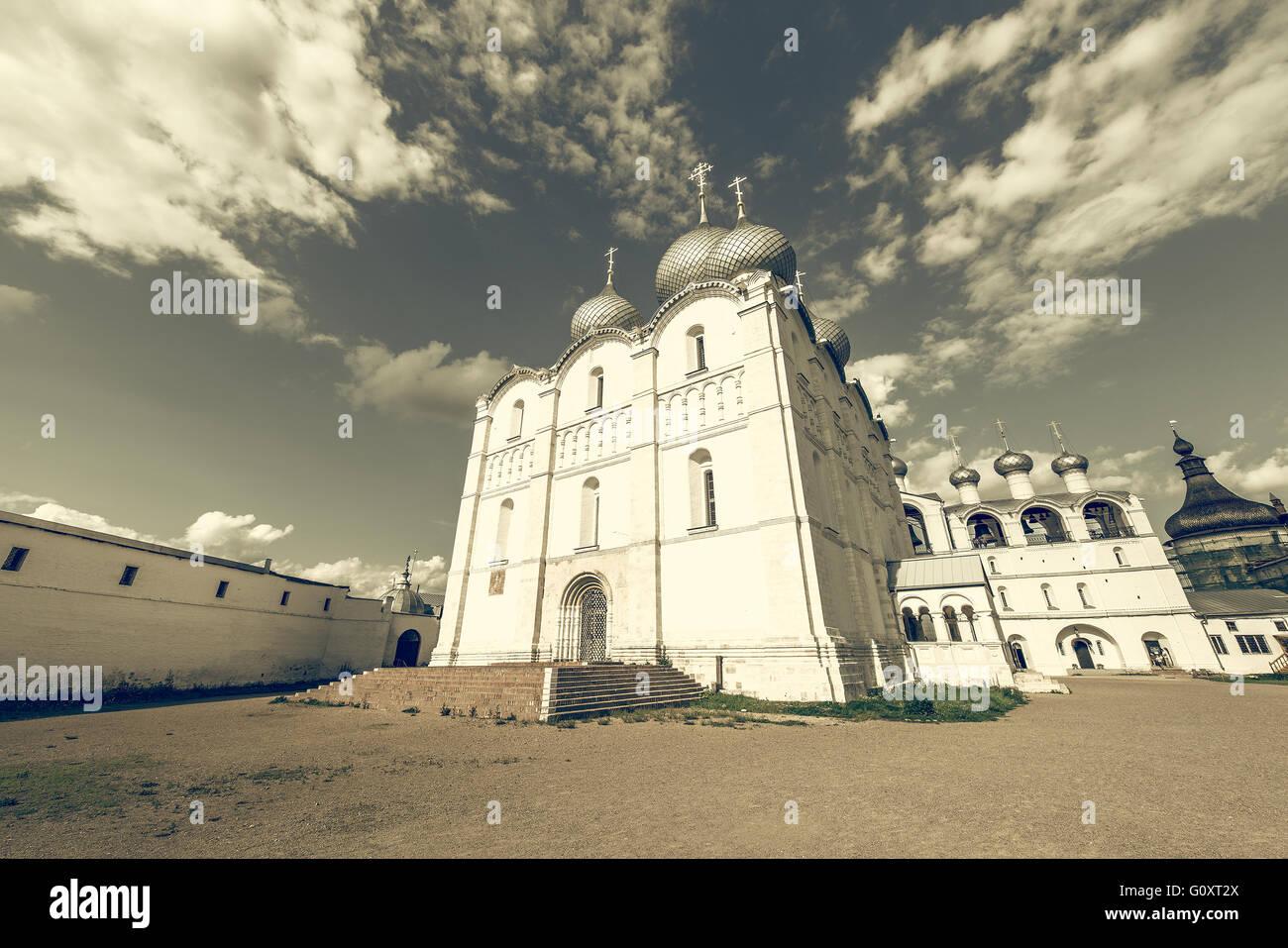 Orthodox churches by the Kremlin. Rostov. Stock Photo