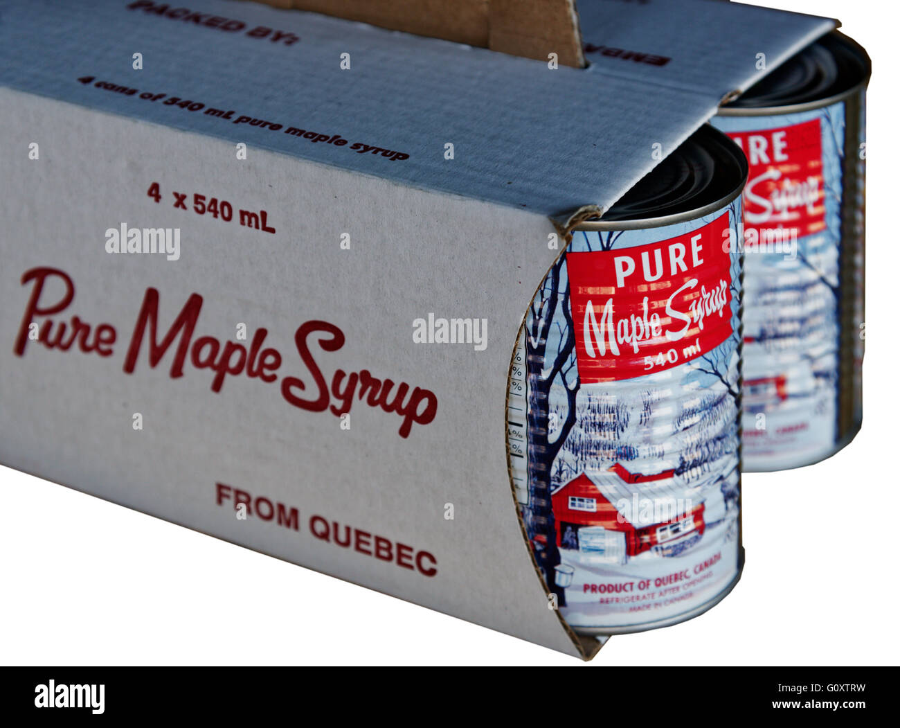 Canadian maple syrup - Stock Image