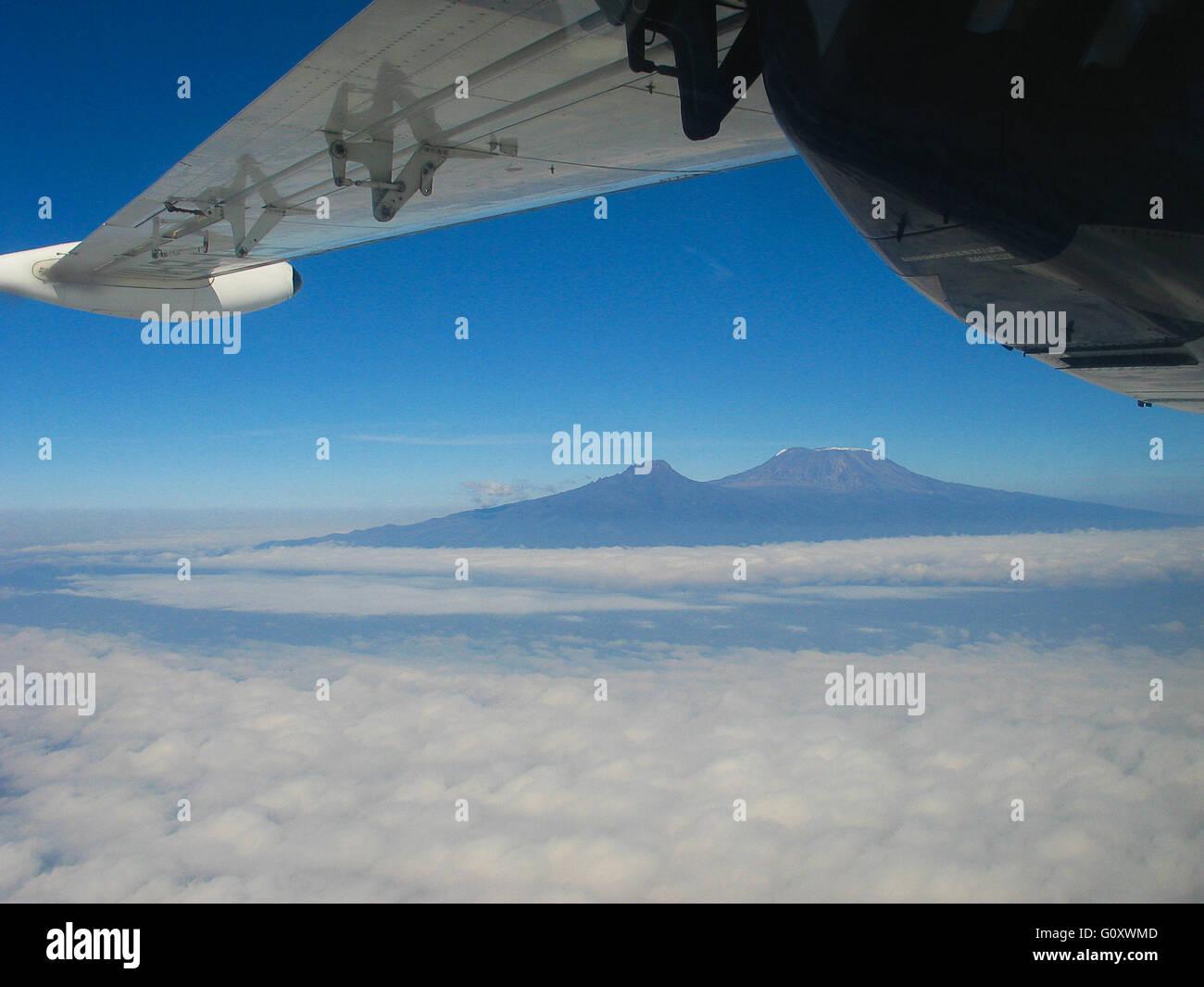 Aerial Of Mount Kilimanjaro - Stock Image