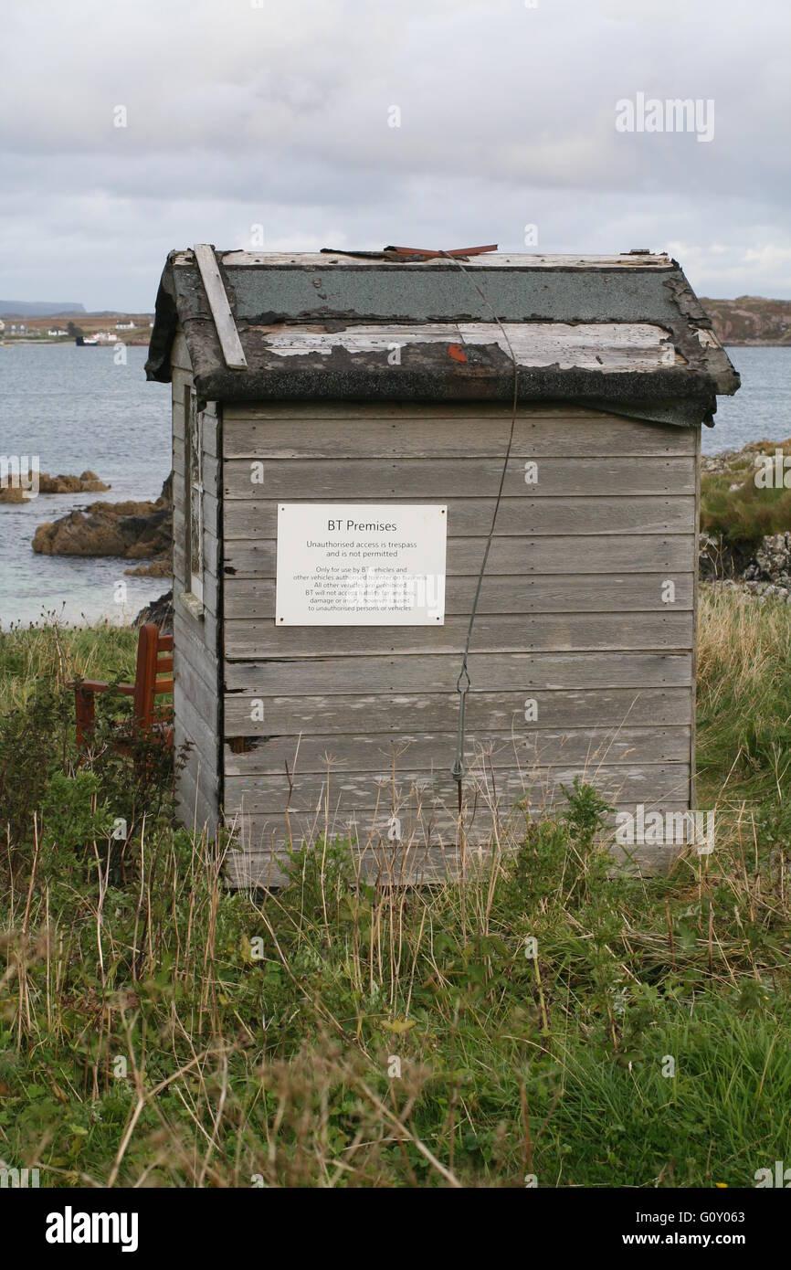 Wooden shed on Isle of Iona, Argyll, Scotland Stock Photo