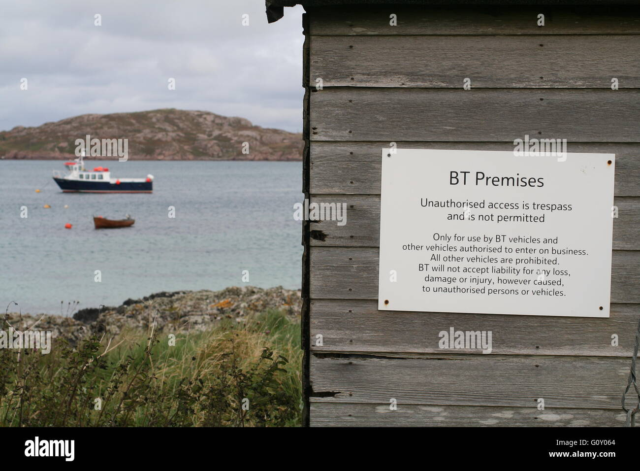 Wooden shed on Isle of Iona, Argyll, Scotland - Stock Image