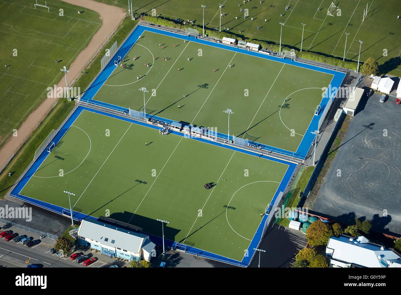 McMillan Hockey Centre, Logan Park, Dunedin, Otago, South Island, New Zealand - aerial - Stock Image