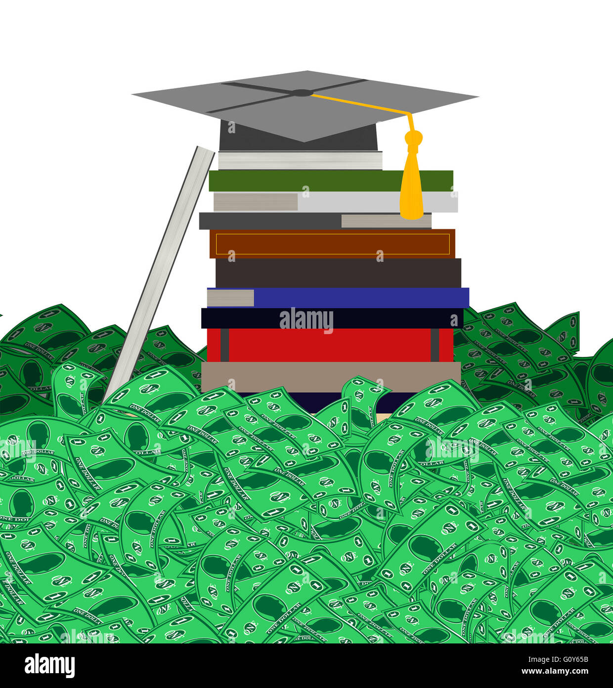 High Cost of College Education - Stock Image