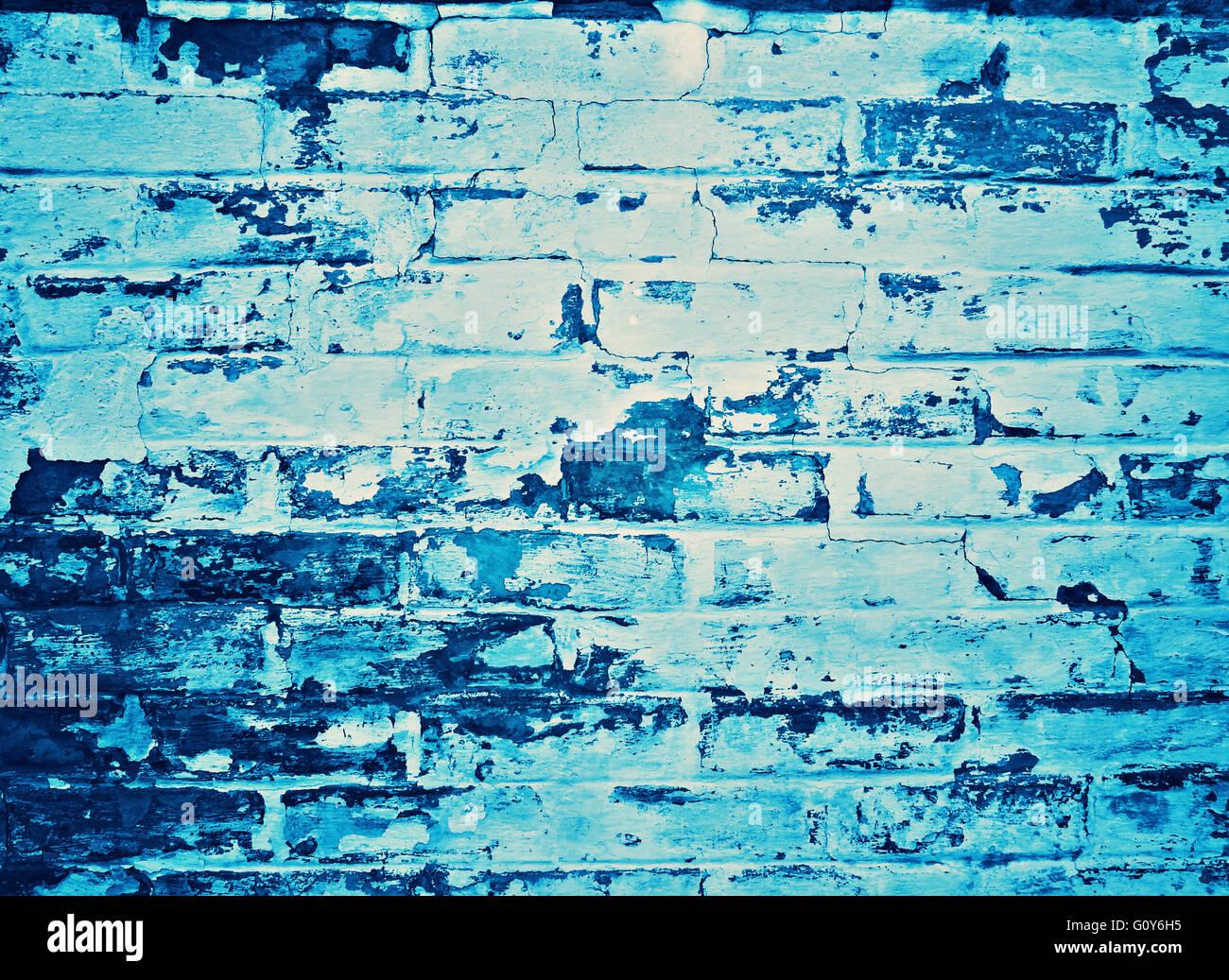 blue brickwall Stock Photo