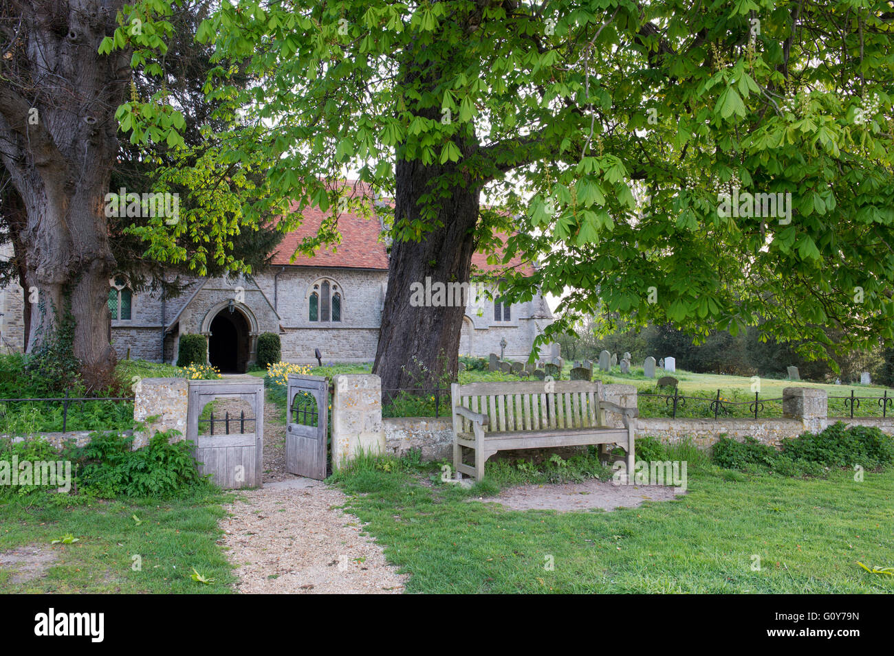 St Peters church, Little Wittenham, South Oxfordshire, England - Stock Image