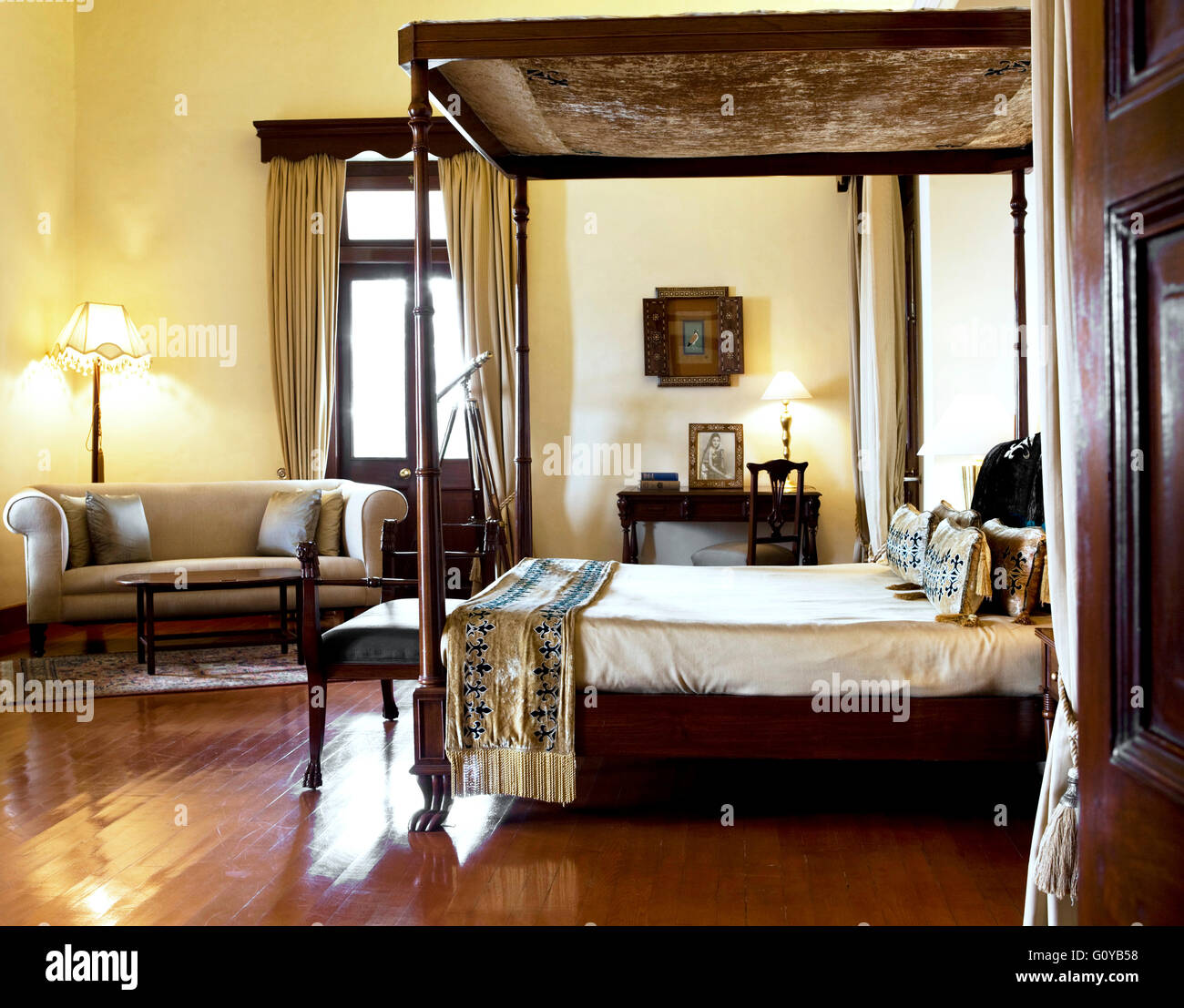 The Viceregal Suite at Ananda in the Himalayas. India - Stock Image