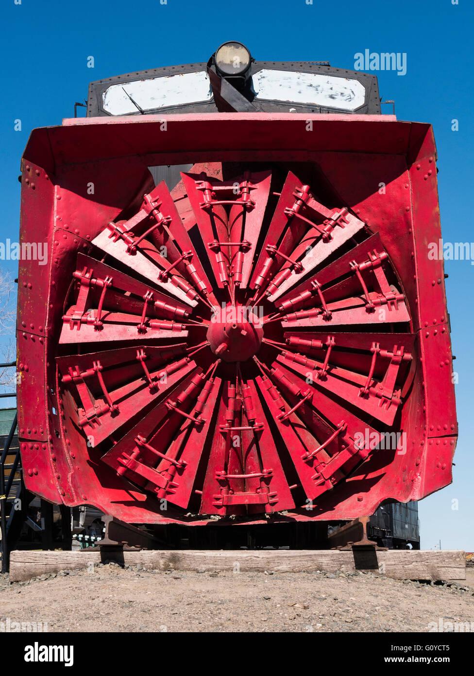 Colorado & Southern Rotary Snowplow #99201, Colorado Railroad Museum, Golden, Colorado. - Stock Image