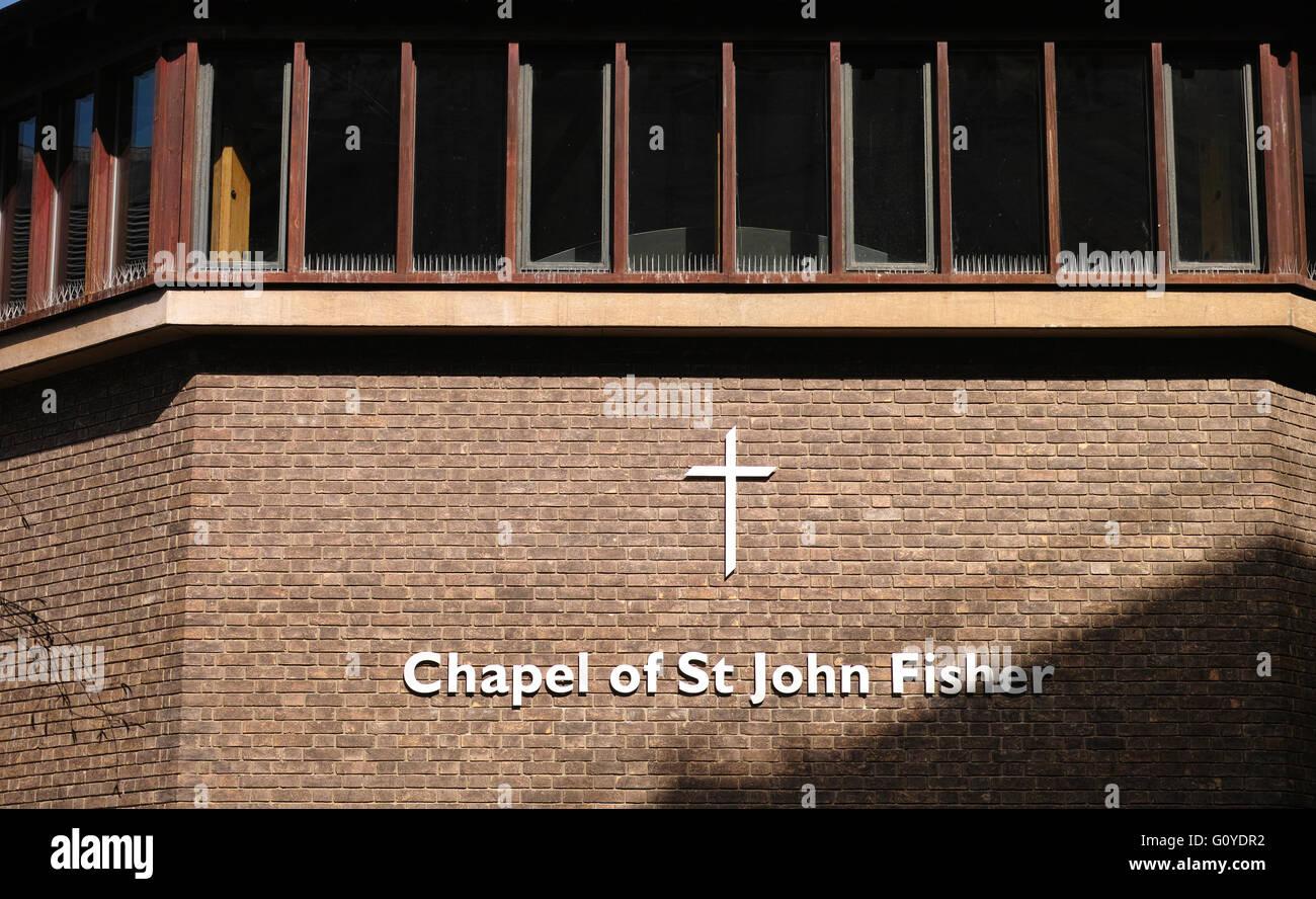 chapel Cambridge st john fisher - Stock Image