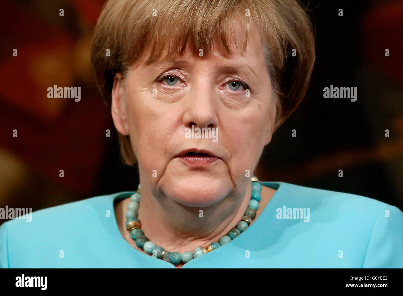Rome, Italy. 5th May, 2016. Angela Merkel Rome 5th May 2016. Italian premier meets the German Chancellor. Photo - Stock Image
