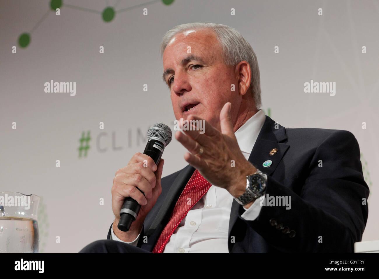 Washington, DC USA. 5th May, 2016:Climate Action 2016 Summit brings global leaders to Washington, DC.  UN Secretary - Stock Image