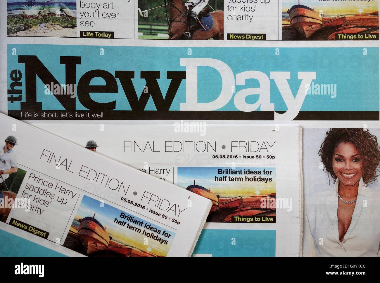 Final Edition of 'The New Day' newspaper - Stock Image