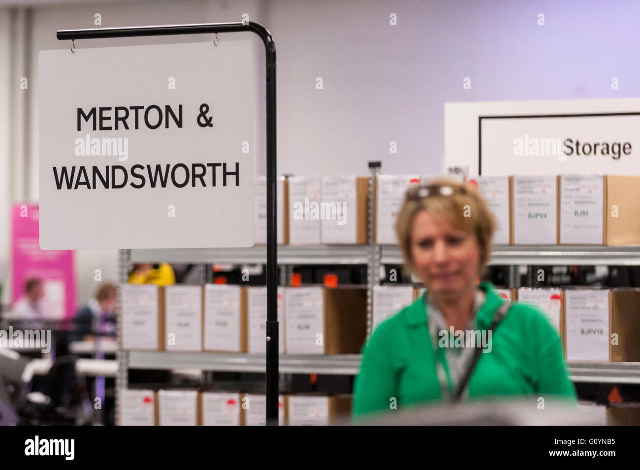 London, UK.  6 May 2016. Several London regions are having their votes counted. Votes for the London Mayoral elections - Stock Image